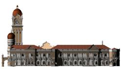 Tampak bangunan Sultan Abdul Samad