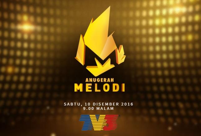 Keputusan Anugerah Melodi 2016 TV3 Melodi