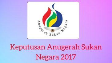 Keputusan Anugerah Sukan Negara 2017