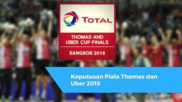 Keputusan Piala Thomas dan Uber 2018
