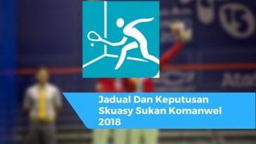 Jadual Dan Keputusan Skuasy Sukan Komanwel 2018